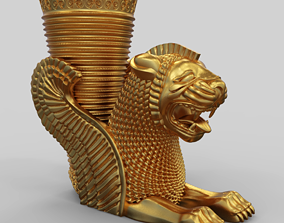 Achaemenid Persian Lion Rhyton 3D print model