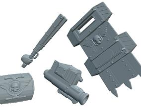 Sci Fi Ogre Weapon Set 3D printable model