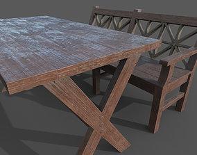 Sauna dining group 3D model