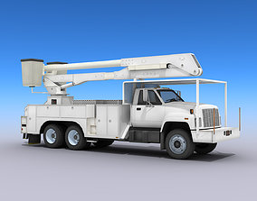 3D model VR / AR ready Utility Bucket Truck