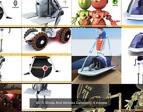 Sci Fi Droids And Vehicles Collection 3D model