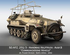 3D SDKFZ 251 3 - Ausf B - Communications Vehicle - 15PD