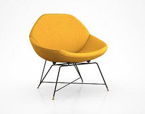 3D model Saporiti Lounge Chair by Augusto Bozzi
