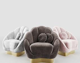 Newbury Barrel Chair 3D model