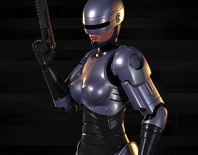 3D model Robocop-Woman