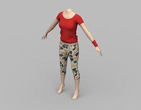 Basic Home casual wear with manikin 3D model