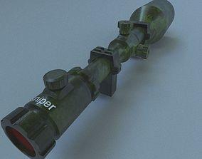 3D model sniper telescopic