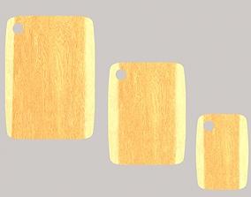 3D asset Wooden chopping boards set2