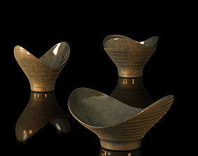 Decorative Brass Bowls by Paavo Tynell 3D model
