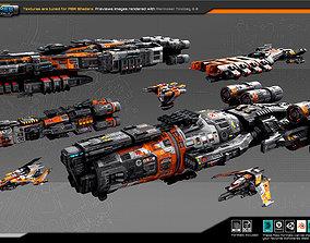 3D asset Spaceships Vol-17