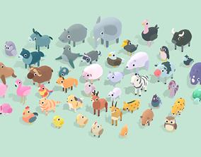 3D asset Quirky Series - Animals Mega Pack