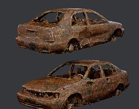 Apocalyptic Damaged Destroyed Vehicle Car 3D asset 2
