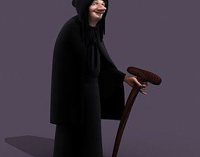 3D model woman Witch