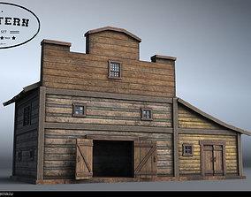 3D Western Village House 07