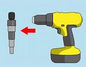 3D print model drill