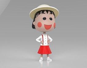 Maruko Chan Skirt N Shirt 3D print model