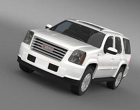 yukon 3D model GMC Yukon Hybrid 2013
