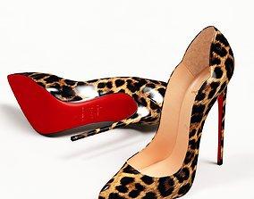 Christian Louboutin Leopard Hot Chick 130mm High 3D model