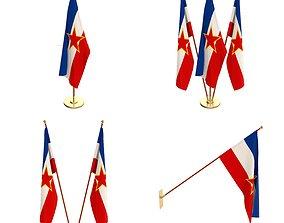 3D Yugoslavia Flag Pack