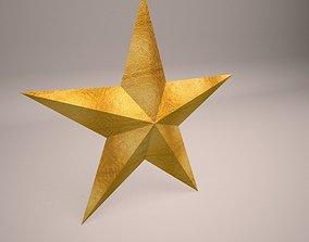 3D model Low Poly Golden Star