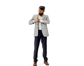 Standing Man Searching in Pocket CMan0338-HD2-O01P01-S 3D