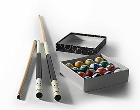 3D Gator Zeus BW-5 Billiard Cue and Gamesson Pool Ball