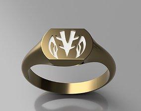 3D printable model White Power Ranger Signet Ring