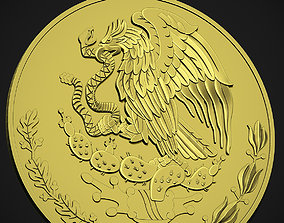 Mexican Eagle Coin 3D print model