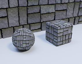 Brick Wall 02 Material 3D model