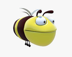Cartoon Bee 3D Model from 3ds Max low-poly