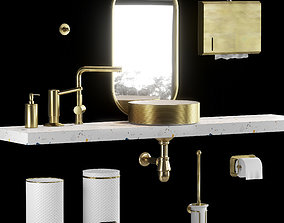 3D A set of plumbing and accessories for the bathroom
