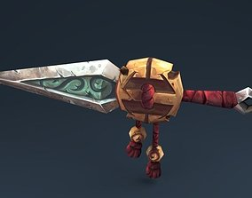 3D asset Copy model monk dagger from web