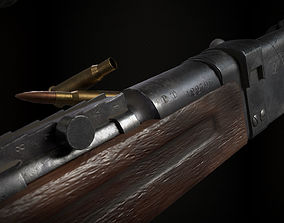3D model Lebel 1886 M93 With Scope and Bayonet