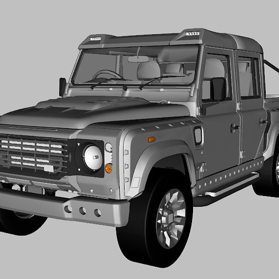 LAND ROVER 6X6 3D MODEL GAME -/PRİNT