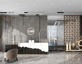3D Office reception hall Leisure Area Administrative Area