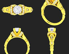 3D print model Collection of 20 ladies diamond rings - 3