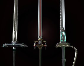 3D asset Stylized Heavy blade pack