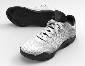 black-and-white-nike -kobe-basketball shoes 3D print model
