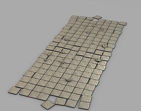 Stone floor module 3D asset