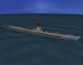 Balao Class Submarine USS Ling SS297 3D model