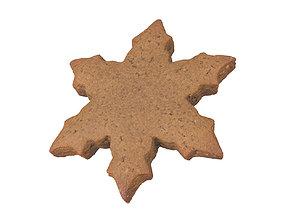 breakfast Photorealistic Gingerbread Snowflake 3D Scan