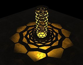 3D printable model Honeycomb shaped Candle