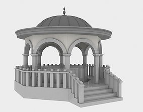 Mosque Fountain 3D model game-ready