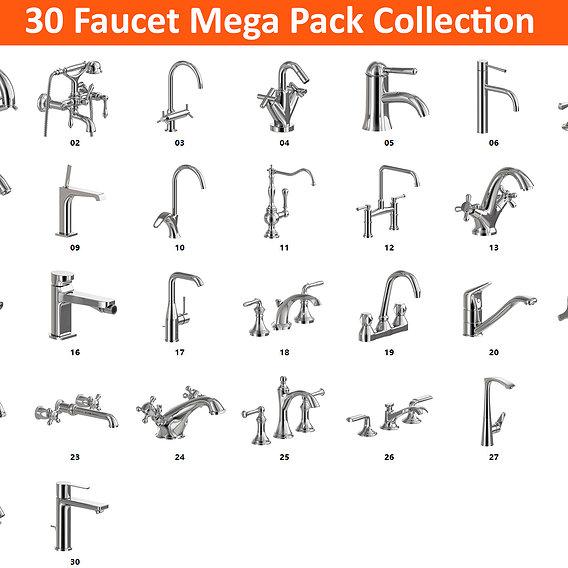 30 Faucet Super Mega Pack Collection