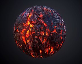 3D model Lava PBR SEAMLESS Texture