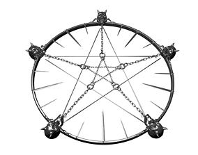 Diablo pentagram 3D print model