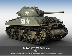 3D M4A3 75mm - Sherman - 50