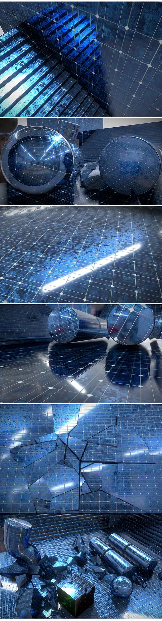 Photovoltaic Panel Texture (2) Texture-Set (40)