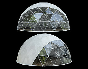 3D geodesic Geodesic dome