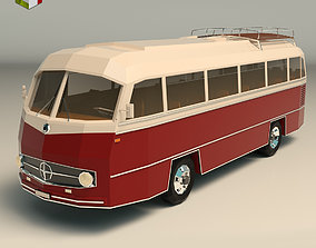 Low Poly Vintage Bus 02 3D asset